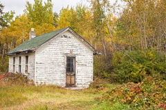 Old white house autumn forest Stock Images