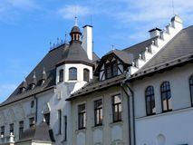 Old white house. Beautiful old white house.  Klaipeda, Lithuania Stock Images