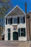 Old white house in the center of Utrecht Stock Images