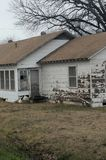 Old white house. Condemned rural house . Texas farm vintage Stock Photography