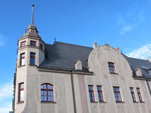 Old white house. In Klaipeda, Lithuania Royalty Free Stock Image