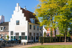 Old white house in Naarden, Netherlands Royalty Free Stock Image