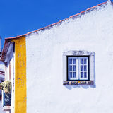 Old white house and window(Portugal) Royalty Free Stock Image