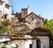 Old white houses in Spain Stock Photos