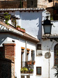 Old white houses in Spain Stock Image