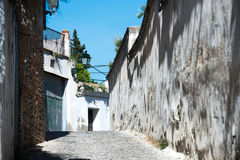 Old white houses in Spain Stock Images
