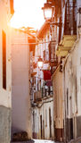 Old white houses in Spain Royalty Free Stock Photography