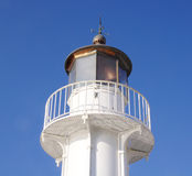 Old white lighthouse in the sky Stock Photos