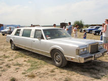 Old white linkoln. Old lux car - white Linkoln Stock Image