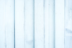 Old White metal ripple sheet wall, texture background Royalty Free Stock Photo