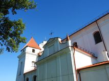 Old white monastery , Lithuania Stock Images