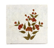 Old white Mulberry paper book. Hand made Royalty Free Stock Images
