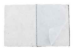 Old white mulberry paper book isolated Stock Image