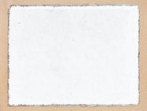 Old white mulberry paper book isolated Royalty Free Stock Images