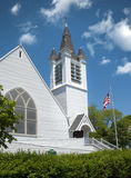 Old white new england church Stock Image