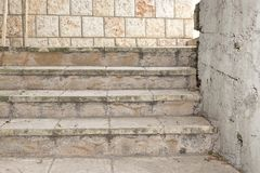 Old White Outdoor Stone Staircase Stock Photography
