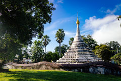 Old white pagoda in nan province of thailand Royalty Free Stock Photography