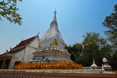 Old white pagoda,Sri Song Ruk,Loei,Thailand Stock Photography