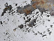 Old white paint peeled Royalty Free Stock Photography