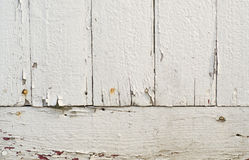 Old white painted boards background Stock Photo