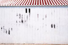 Old white painted concrete chinese wall traditional architecture style background stock images