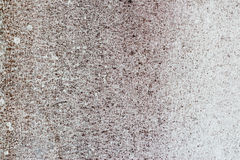 Old white-painted wall with mold stains as abstract background. A close-up shot of an old white-painted concrete wall with mold stains as abstract background stock photography