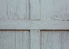 Old white painted wooden door fragment. As abstract background Stock Photos