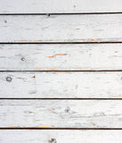 Old white painted wooden lining boards wall. Stock Images