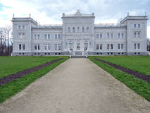 Old white palace, Lithuania Royalty Free Stock Image