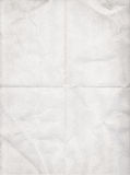 Old white paper folded in four Royalty Free Stock Photography