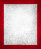 Old white paper on rich red background with vintage texture Stock Photos