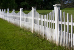 Old White Picket Fence. In New England Royalty Free Stock Photo