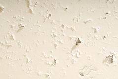 Old white plaster is on ceiling Stock Image