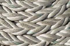 Old white ropes closeup Royalty Free Stock Photography