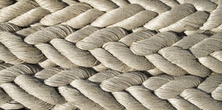 Old white ropes closeup Royalty Free Stock Photos