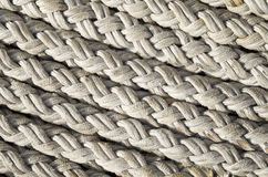 Old white ropes closeup Stock Photography
