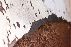 Old White and Rust Texture Royalty Free Stock Photography