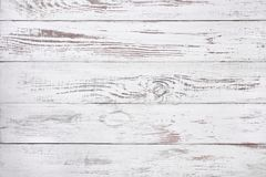 Old white wood background, rustic wooden surface with copy space Stock Photos