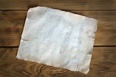 Old white sheet of paper Stock Image