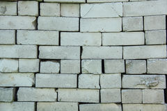 Old white silicate brick texture antic house Stock Images