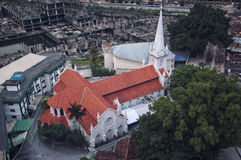 Old white St Anthony church in Kuala Lumpur Royalty Free Stock Photos