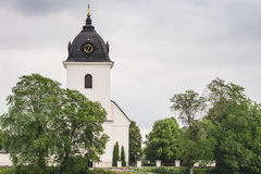 Old white stone church Stock Photography