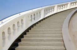Old white stone circular stairs case Stock Photography