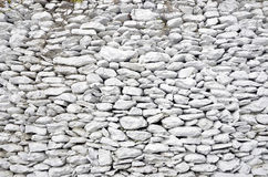 Old white stone wall Stock Images