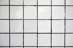 Old white tile stock images