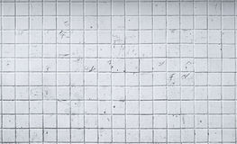 Old white tile wall background Royalty Free Stock Image