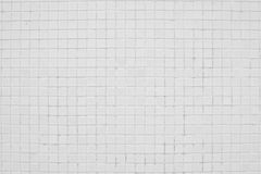 Old white tiled wall background Royalty Free Stock Images