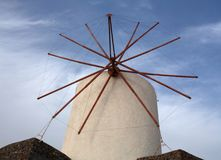 Windmill in Oia village on Santorini Island, Greece Royalty Free Stock Photo