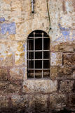 Old white Trellis peaks window and openwork a beautiful vintage background Royalty Free Stock Photography
