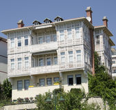 Old white Turkish house, ottoman style Royalty Free Stock Photography